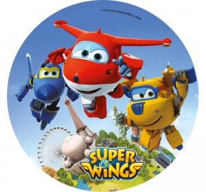 Opłatek na tort SUPER WINGS wz1