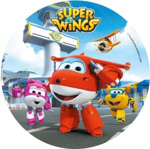 Opłatek na tort SUPER WINGS wz2