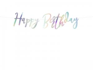 Baner Girlanda HAPPY BIRTHDAY OPALIZUJĄCY